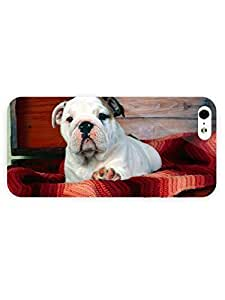 3d Full Wrap Case for iPhone 5/5s Animal Adorable Puppy In The Basket