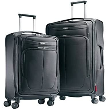 Samsonite 2 Piece Luggage suitcase Set 27 check in and 21 carry-on Spinner 4 Wheel Light weight design