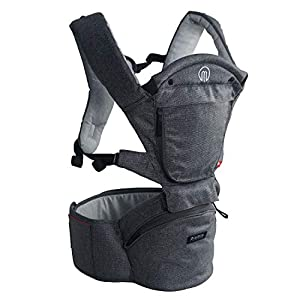MiaMily Hipster Smart Hip Seat Baby Carrier with 6 Carry...