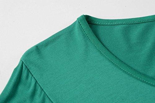 LARACE Women 3/4 Sleeve Tunic Top Loose Fit Flare T-Shirt(3X, Deep Green) by LARACE (Image #5)