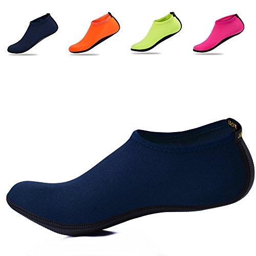 Schuhe Damen Surfschuhe Wassersport Herren Badeschuhe JACKSHIBO Schwimmschuhe Blue wRZS4nFqxx