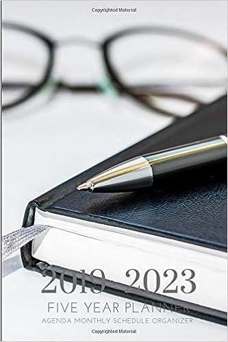 2019-2023 Five Year Planner Agenda Monthly Schedule ...