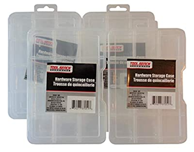 Tool Bench Hardware 9-Compartment Plastic Storage Case, Pack of (4)