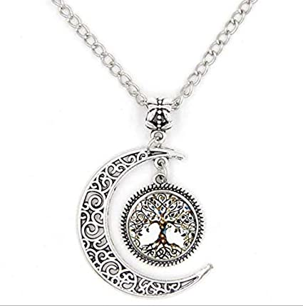 89a5d82beb6146 Moon Life Tree Glass Time Blessing Pendant Necklace (Color SZ01C): Amazon.co .uk: DIY & Tools