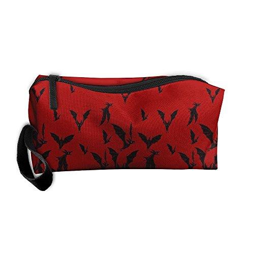 Travel Makeup Halloween Night Hunter Blood Cosmetic Case Organizer Portable Artist Storage Bag Toiletry Jewelry (Halloween Simple Blood Makeup)