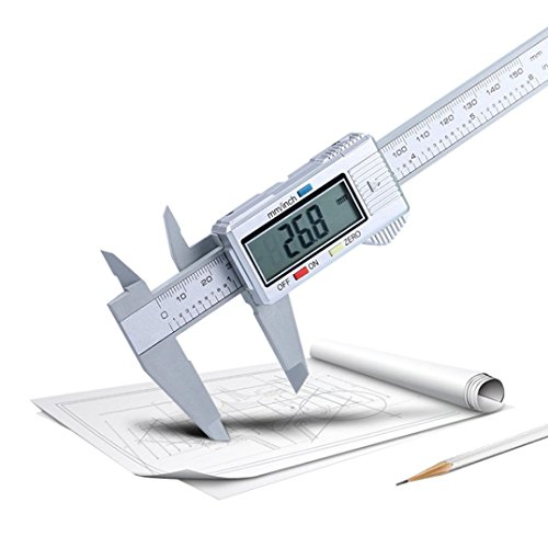 Iuhan 150mm/6inch LCD Digital Electronic Carbon Fiber Vernier Caliper Gauge Micrometer
