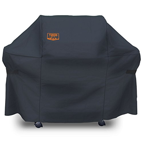Yukon Glory 8264 Premium Grill Cover for Weber Genesis Gas Grills (Compared to the Weber 7107 Grill Cover), - Grill Deluxe Cover Bbq Castings