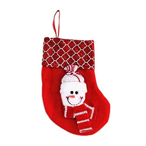 Hosaire Decoración de Navidad Decoraciones del Partido Santa Claus calcetín de Navidad Dulces Calcetines Bolsa para el hogar Regalo para el año 9X16X12CM: ...