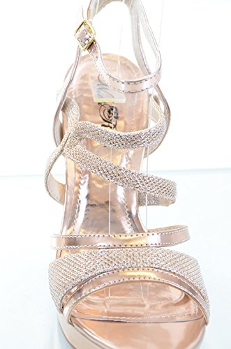 Glitter Mesh Metallic Strappy Open Teen Stiletto Party Sandaal Hakken