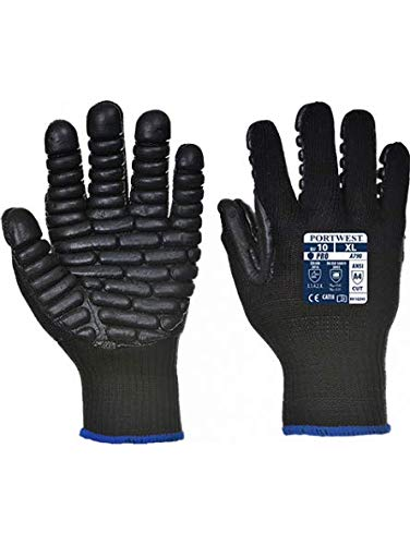 A790BKRL CCA PORTWEST Anti Vibration Gloves Large