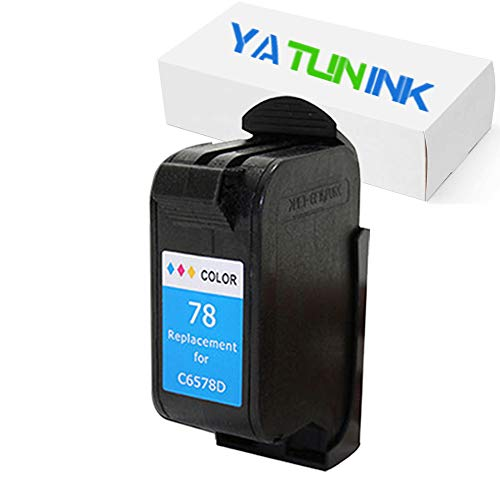 YATUNINK Remanufactured Ink Cartridge Replacement for HP 78 Tri-Color Ink Cartridge Compatible for HP Deskjet/Color Copier/Fax /Officejet/Photosmart /PSC Series Printer(1 Pack) ()