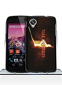 Google Nexus 5 Funda Case, Resident Evil Logo Game Dust Proof Colorful Paint Impact Resistant Simple Pattern Shell Protective Funda Case