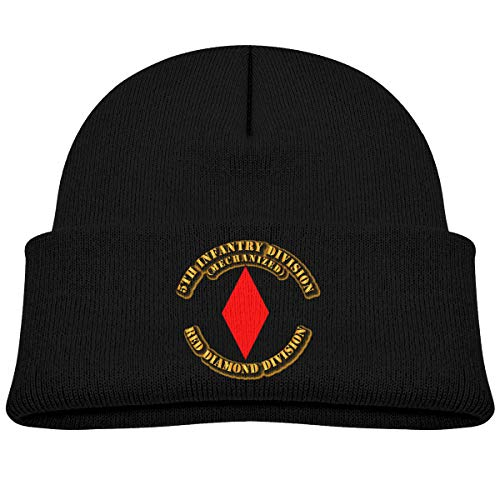 5th Infantry Division Red Diamond Division Boy Girl Beanie Hat Knitted Beanie Knit Beanie