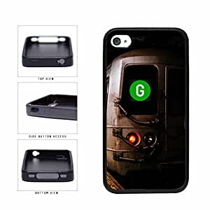 Personalized NYC Train Custom Letter G TPU RUBBER SILICONE Phone Case Back Cover Apple iPhone 4 4s