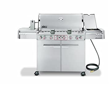 Weber 2880301 Summit S-670 Natural Gas Tuck-Away Rotisserie Grill, Stainless Steel