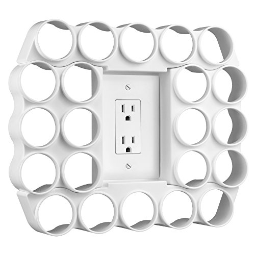 Capacity Single Serve Coffee or Tea Pod Wall Display | Use Existing Outlet Cover to Free up Counter Space | White Color ()