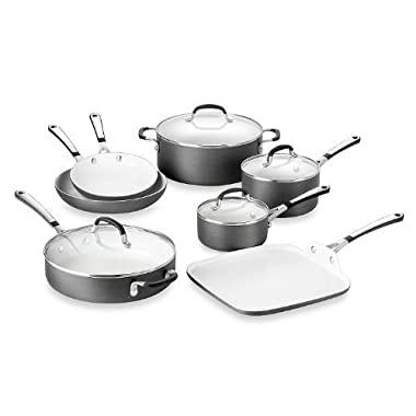 Simply Calphalon Ceramic Nonstick 11-Piece Cookware Set and Open Stock - PFOA- and PTFE-Free