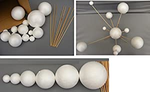 Make Your Own Solar System Model ~ 14 Mixed Sized Polystyrene ...
