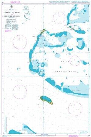 BA Chart 726: Indian Ocean, British Indian Ocean Territory, Chagos Archipelago, Egmont Islands to Three Brothers