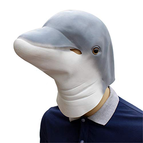 QIAO Halloween Props Dolphins Animal Masks Cosplay Party Tidy Latex Props Fancy Dress Headgear (Color : A) -