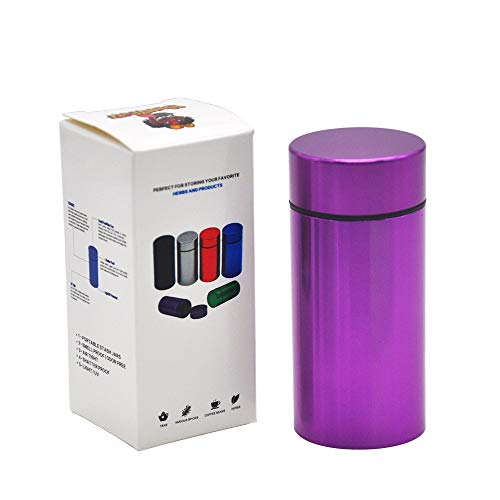 Stash Jar - Airtight Water Proof/ Smell Proof Aluminum Herb Container Bottle (PURPLE)
