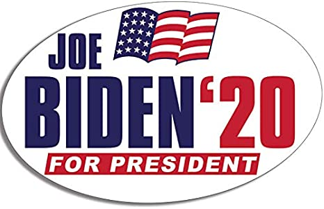 tunfo 2 PCS 2020 Trump Bumper Stickers and Biden Harris 2020 for President Election Car Decal Vehicle Trucks Decor Oval 3x5