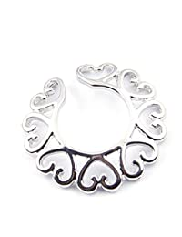 BODYA 316l Surgical Steel Sexy Non-Piercing Nipple Ring Shield Clip On Heart Circle Ring Shape - Sold Per Each