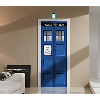Doctor Who TARDIS Repositionable Door Or Wall Decal Sticker Graphic USA  Seller Part 76