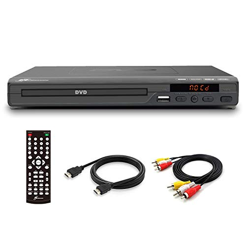 Mediasonic DVD Player – Upscaling 1080P All Region DVD Players for Home with HDMI / AV Output, USB Multimedia Player…