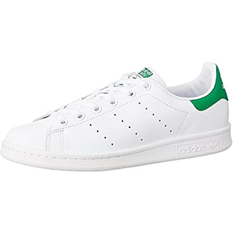 adidas Originals Stan Smith J White/Green Leather 5 M US