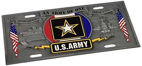 Siskiyou SVP2 Carved and Enameled Army License ()