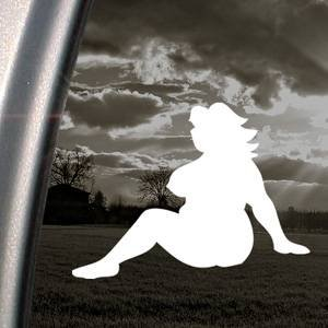 Amazoncom Fat Girl Woman Mudflap White Sticker Decal Bumper - Car sticker decal for girls