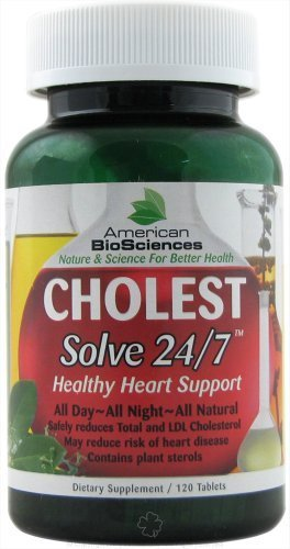 American Biosciences Cholest Solve 24/7 Healthy Heart Support - 120 tablets, 1 Pack by American BioScience (Solve 24/7 Healthy)