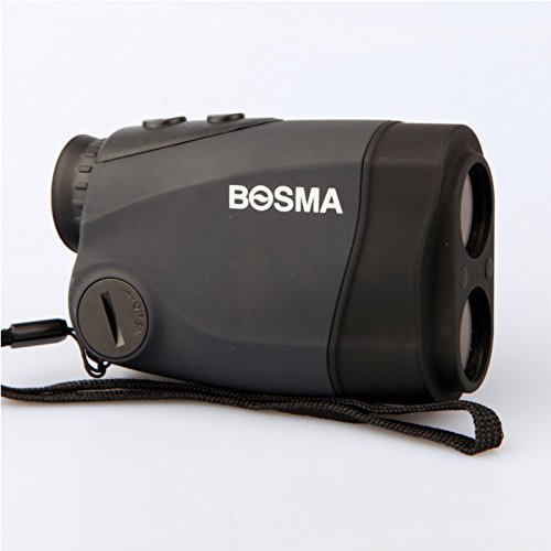 HITSAN BOSMA 6x25 Solar Energy Golf Laser Rangefinder Portable Waterproof 600M Distance Measure Telescope One Piece by HITSAN