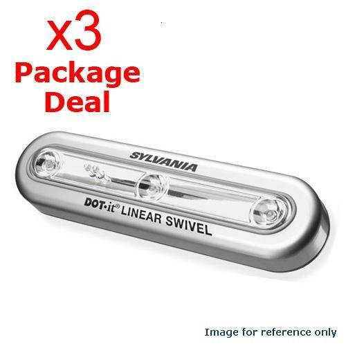 Sylvania Dot It Led Linear Swivel Light Silver - 2