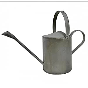 Broc decorativo o regadera vertidor façon cinc en hierro acabado antiguo gris 18x 36,5x 51cm