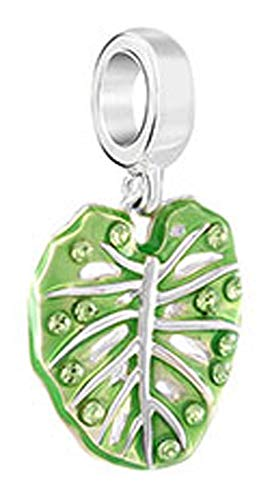 Chamilia Authentic Palm Frond Charm Peridot Swarovski Crystal 2025-2633 ()