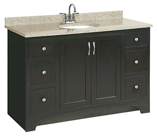 Design House 541292 Ventura 2 Door/4 Drawer Ready-To-Assemble Vanity, Espresso, 48-Inch by 21-Inch