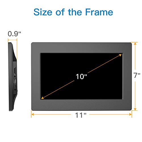 Digital Picture Frame 10 Inch Widescreen - 1280 x 800 IPS Hi-Res Digital Photo & HD Video Frame with Video Player, MP3, Calendar, Zoom in, Create Slideshows with Remote Control by Pipishell (Image #3)