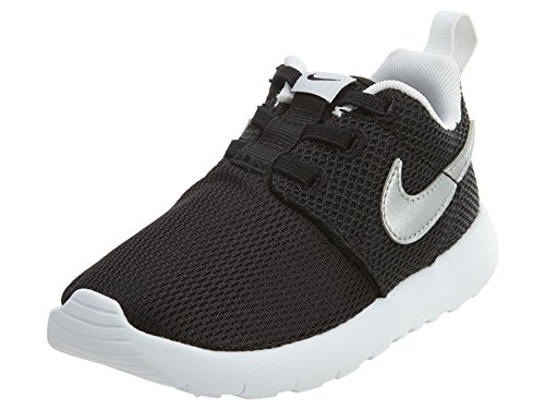 Nike Roshe Run Toddler Sneakers (Black/Metallic Silver-White) Size 5 M US Toddler