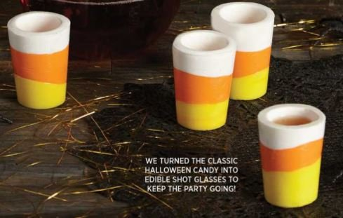 Two's Company Colada Flavored Candy Corn Shot Glasses (Edible Shot Glasses)