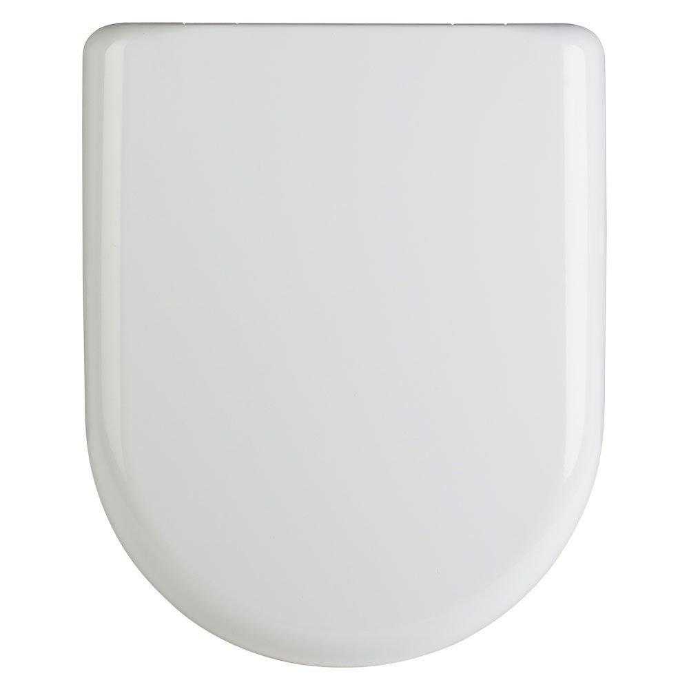 Premier White Luxury D-Shape Quick Release Soft Close Toilet Seat