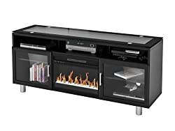 """Madie Flat Panel TV Stand With 26"""" Crystal Fireplace insert by Z-Line Designs"""