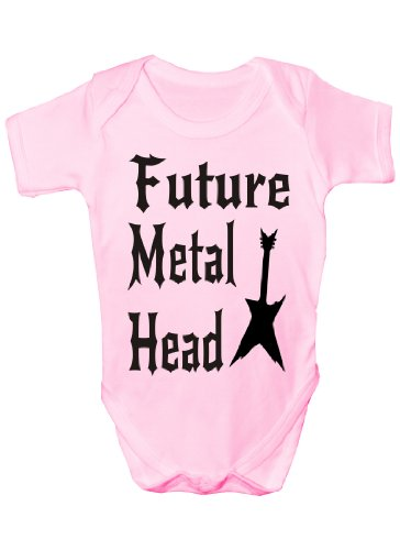 Print4U Future Metal Head Funny Baby Onsie Sizes 0-18 Months 0-3 - Heads Metal