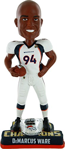 NFL Denver Broncos DeMarcus Ware #94 Super Bowl 50 Champions Bobble Head Toy, One Size, White