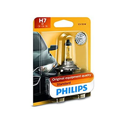Philips 12972B1 H7 Standard Halogen Replacement Headlight Bulb, 1 Pack: Automotive
