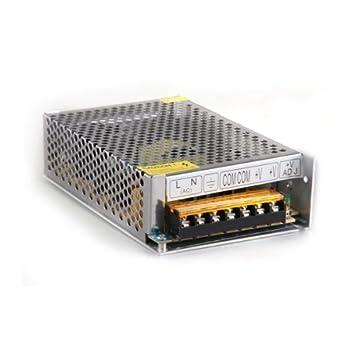Transformador Corriente de AC 110V 220V a DC 12V 6A 72W para Bombillas LED: Amazon.es: Electrónica