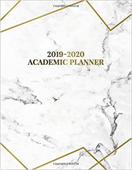 Amazon.com: Academic Planner 2019-2020: Pretty Marble & Gold ...
