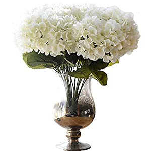 Anlise 5 Big Heads French Hydrangea Artificial Flowers Beautiful Silk Bunch Bouquet for Wedding Home Garden Floral Decor 64