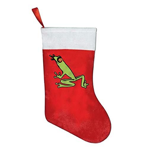 (Rainforest Tree Frog Christmas Stockings Christmas Forks Knives Dinner Flatware Decoration Holders)